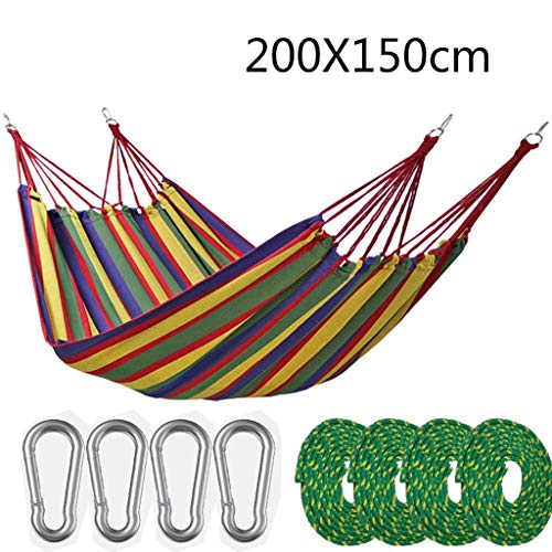 QQZ Outdoor Hammock Multiples Load Capacity up to Portable with Carrying Bag for Patio Yard Garden Outdoor Camping Garden Beach Travel Hammock