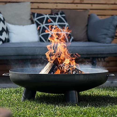Czaja Feuerschalen® Feuerschale Coburg Ø 80 cm - Feuerschalen für den Garten, Terrasse und Balkon mit Wasserablaufbohrung , Feuertonne und Feuerkorb , große Feuerstelle für den Garten