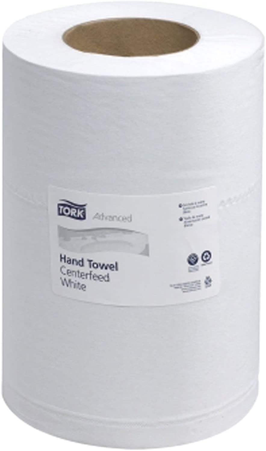 Tork 121225 Advanced 2-Ply Mini Centerfeed Wide Hand Towels, White - 12 Pack