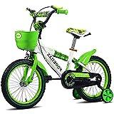 LNDDP Bicicleta para niños, Bicicleta para niños para niños y niñas, 12 14 16 Pulgadas con Ruedas Entrenamiento Asiento Ajustable y Manillar Bicicleta para niños