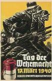 Tag der Wehrmacht 17.Mars 1940 Eisen 20,3 x 30,5 cm Retro