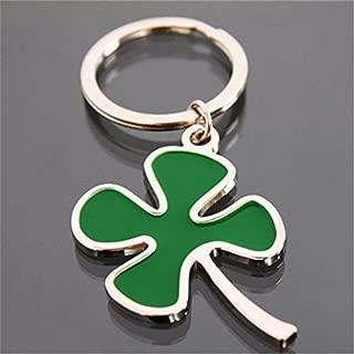 Four-Leaf Clover Keychain Key Chain Ring Keyfob Keyring