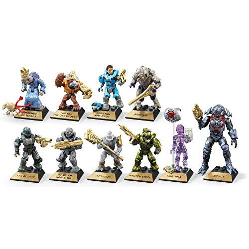 Mega Construx Halo Heroes Bundle Series 10 - Juego completo de 10 figuras