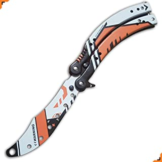 csgo Butterfly Knife Advanced Trainer, 5th Gen, Custom made by Knivesmatter, Asiimov Finish