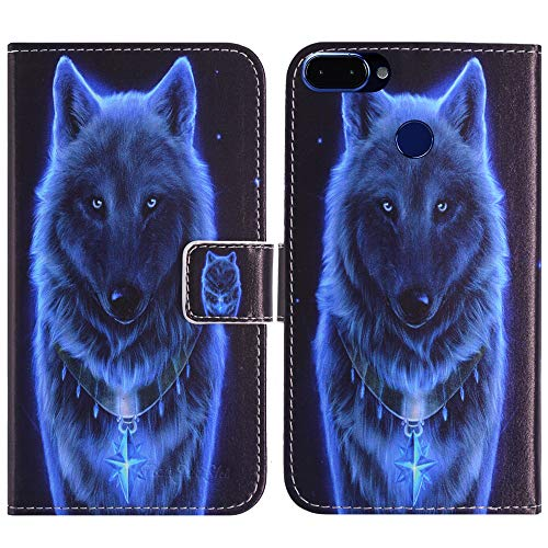 TienJueShi Wolf Fashion Style Book Stand Flip PU Leather Magnet Card slot Protector Phone Case For ROKiT IO 3D 5.4 inch Cover Etui Wallet