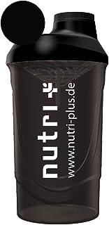 Klassieke Protein Shaker zwart 600 ml voor onderweg - Sport Fitness Bodybuilding - met schroefdop en mesh insert - BPA-vri...