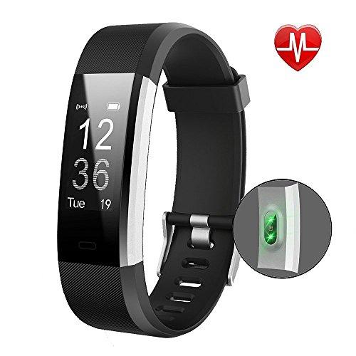 Very Fit 115HR+ Intelligente fitnesstracker, met horloge, hartslagmeter, stappenteller, calorieënteller, slaapmonitor, oproepmelding, waterdicht IP67, voor wandelen, hardlopen en fietsen, werkt met iPhone/iOS en Android-smartphones