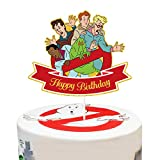 LYNHEVA Gold Glitter Ghostbusters Happy Birthday Cake Topper, Ghost Busters Cake Topper, Ghostbusters Theme Birthday Party Decoration Supplies