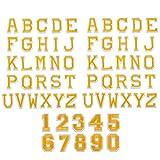 62 piezas Parches Letras mayúsculas Aplicaciones de números para coser Juego...