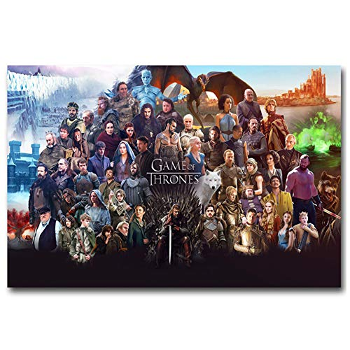 chtshjdtb Game of Thrones TV-Shows Staffel 6 Alle Charaktere Leinwand Malerei Poster Wandkunst Drucke für Home Wanddekoration -24x36 Zoll No Frame 1 PCS