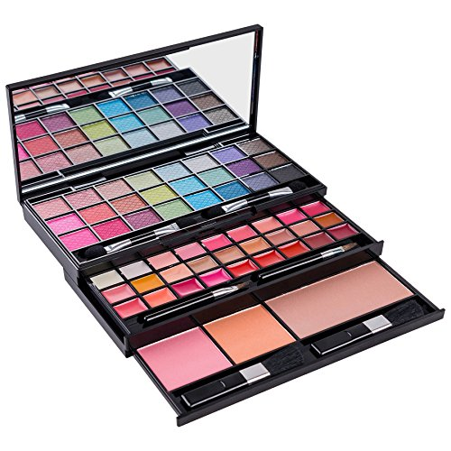 SHANY Classy & Sassy All-in-One Makeup Kit with Mirror, Applicators, 24 Eye Shadows, 18 Lip Glosses, 2 Blushes, and 1 Bronzer.