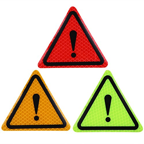 Qiilu 3 stuks zelfklevende licht reflecterende stickers veiligheid waarschuwing sticker auto vrachtwagen alarm decor