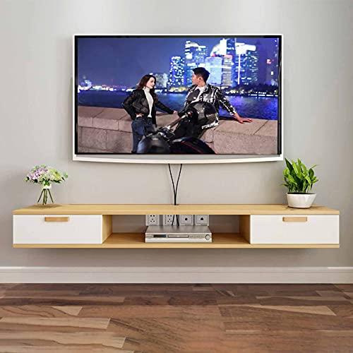 Mueble de TV Flotante, Consola de TV Colgante, Mueble TV de Pared, Unidad de Pared Flotante de Entretenimiento, Consola de Almacenamiento de Audio/Video/B / 100cm