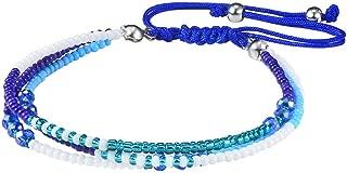 Jeka Braided Colorful Beads Charm Bracelet for Women Girls Handmade Wrap Woven Friendship Jewelry Waterproof Cords Adjustable