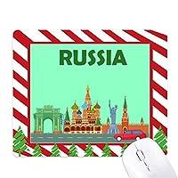 ロシアのクレムリンの彫刻の落書き ゴムクリスマスキャンディマウスパッド