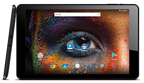 Odys Falcon 10 Plus 3G 25,65 cm (10,1 Zoll), MS Office für Android, (1,3 Ghz QuadCore Prozessor, 16GB Speicher, 1 GB RAM, Mali T720 MP2, Android 7.0) GPS, DUAL SIM, Schwarz
