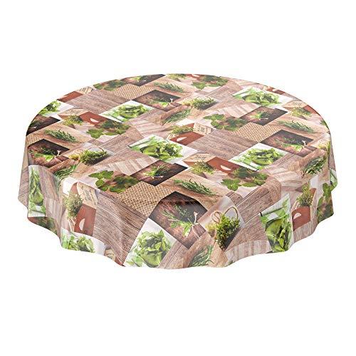 ANRO wasdoek tafelkleed - afwasbaar wastafelkleed met patroon