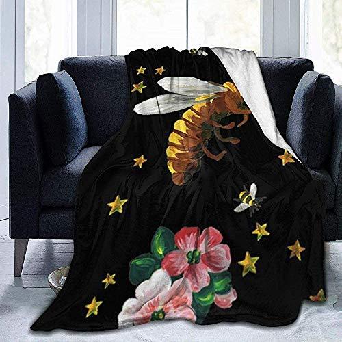balaclava Stars and Bees - Manta de forro polar ultrasuave