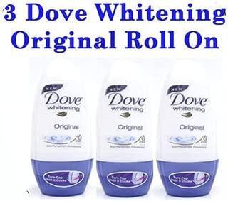 Dove Original Underarm Skin Whiten Whitening Deodorant Roll-on 40ml (3 Pack)-