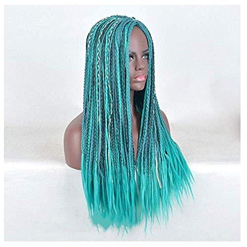 Perruque Black Top Blue Women Perruques de Haute qualité avec Fashion Girls Dating Role Play Long Curly Hair