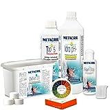 Metacril Easy Kit OXI para hidromasajes y piscinas. Tratamiento completo a base de oxígeno (sin cloro) en pastillas de 20 g. Ideal para Jacuzzi, Intex, Bestway, Dimhora.
