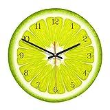 Cdrox Frutas de marcación de acrílico del Reloj de Pared p