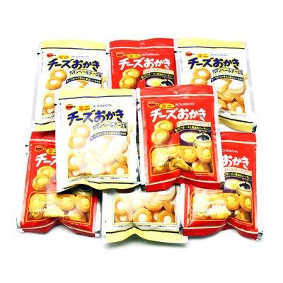 ブルボン ミニチーズおかき & ミニチーズおかき カマンベールチーズ味 各4コ(計8コ)セット