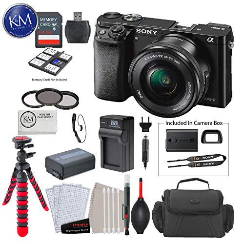 Sony a6000 Mirrorless Camera w/16-50mm Lens + 64GB + Deluxe Photo Bundle