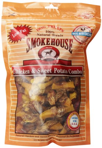 Smokehouse 100-Percent Natural Chicken And Sweet Potato Combo Dog Treats, 16-Ounce