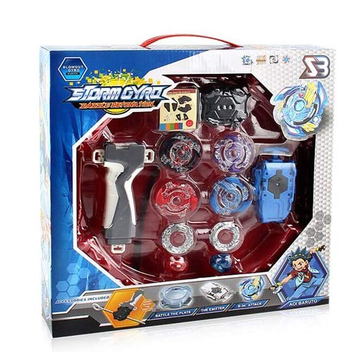 JKMQA Caja Original Beyblade Burst for Sale Metal Fusion 4D BB807D con launciador y Arena Spinning Top Set Kids Game Toys (Color : BB807D)