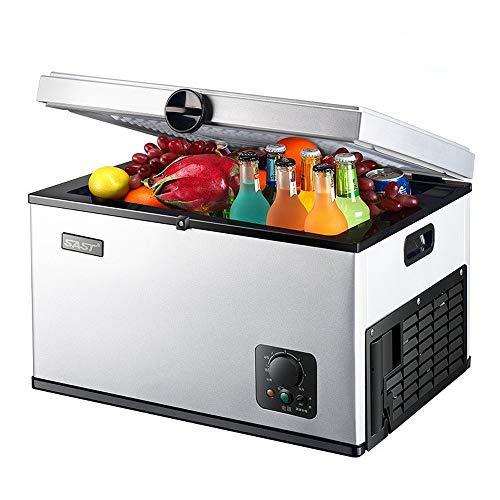 Mini-Kühlschrank 35 l Gefrierschrank Kompressor Auto Kühlschrank Camping Haushalt Bier Kühlschrank Tischplatte Kühlschrank tragbarer Kühlschrank geeignet für Familie Outdoor Camping weiß