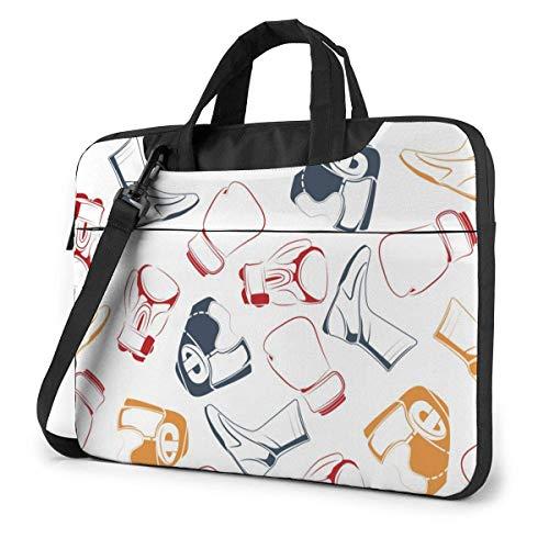 15.6 inch Laptop Tasche Schultertasche Bussiness Messenger Tablet Tasche Laptophülle Bunter Boxoutfit Boxhandschuhe Helm