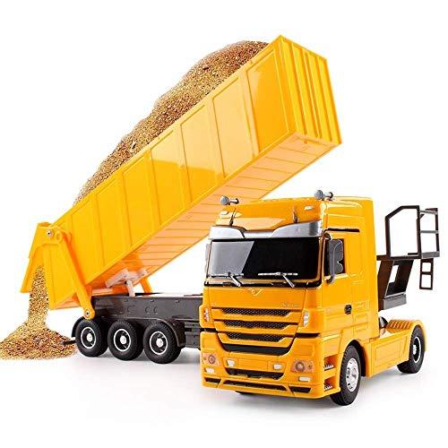 SXLCKJ Camión volquete RC 1:32, 10 Ruedas, inclinable, eléctrico, camión RC, Control de Radio, vehículo Elevador automático, Juguetes electrónicos para Pasatiempos, Camiones para (Coche Inteligente)