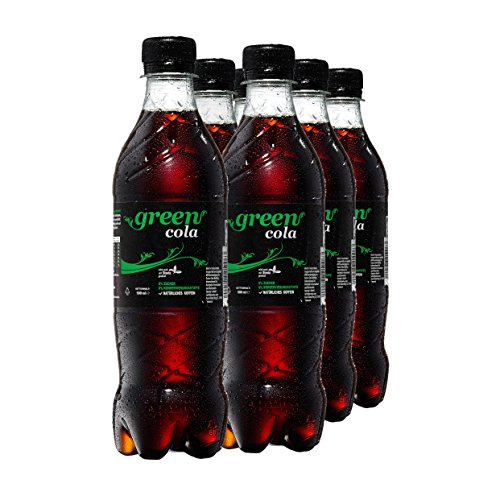Green Cola Getränk Zuckerfrei Aspatamefrei Ohne Konservierungsstoffe Nur Natürliche Aromen inkl. Pfand (PET Flasche 0,5l 6er Pack)