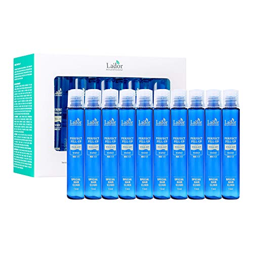 LA'DOR Perfect Hair Fill-Up (10 x 0.4 fl.oz.)   The Original Intensive Korean Hair Treatment for Damage from Dryness, Perms, Dyes, and Heat