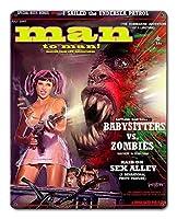 なまけ者雑貨屋 Babysitter vs Zombies Magazine メタルプレート レトロ アメリカン ブリキ 看板 バー ビール おしゃれ インテリア