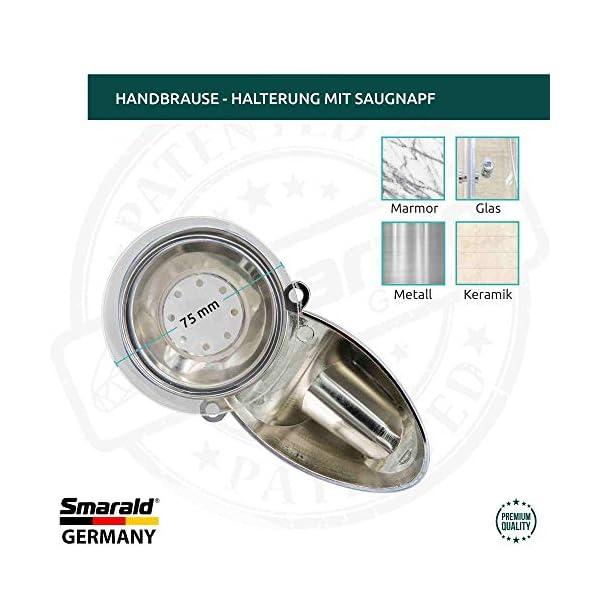 Smarald® Germany – Soporte de ducha con ventosa