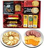 WISCONSIN'S BEST & WISCONSIN CHEESE COMPANY - Deluxe Gift Basket- Sausage, 100% Wisconsin Cheese, Crackers, Pretzels & Mustard. Best Christmas Gift this Holiday Season.