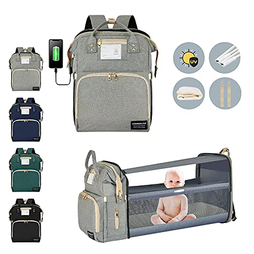 Diaper Bag Backpack Baby Diaper Bag with Changing Station for Baby Girls Boys Waterproof Portable Travel Back Pack Foldable Baby Changing Pad with USB...