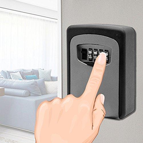 Outdoor Schlüssel Safe Kombination Schlüssel Aufbewahrung Box Wandmontage Schlüssel Schrank mit Code für Sicherheit