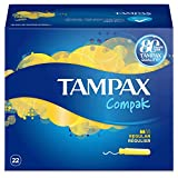 Tampax Compak - Tampones Regular, 22 unidades