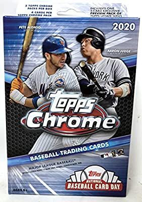 Topps 2020 Chrome Baseball MLB Hanger Pack Box