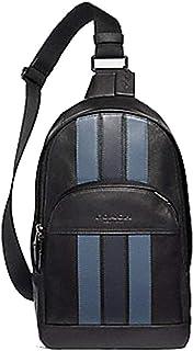 Coach Crossbody Messenger Backpack Black (Black/Denim/Navy)