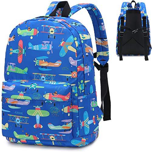 Preschool Backpack Boys Girls Kids Backpack Kindergarten Toddler School Bookbags (Airplane-Dark Blue)
