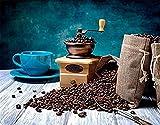 OKOUNOKO Malen Nach Zahlen, Kaffeemaschine, Geben Sie Kindern Große DIY Pädagogische Geschenke,...