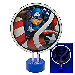 PRODUCT INFO: Avengers Neon Lamp for Kids Bedroom - Perfect as a Night Light - Portable and Lightweight PERFECT: Use as a night light and eye-catching decoration for your kids room FEATURES: On/Off switch with timer function ENERGY SAVING: Auto-Off f...
