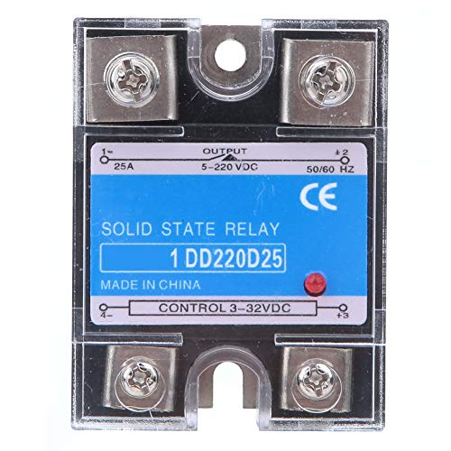 Relé de estado sólido DC-DC, relé de estado sólido 5-220VDC de plástico y aluminio 30x44x59mm