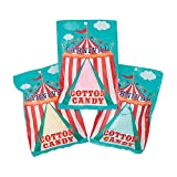 Carnival Cotton Candy Packs - Set of 12 Bags - Assorted Flavors - Great party candy and favors