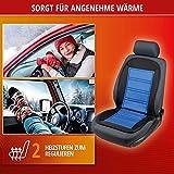 Walser 16591 Beheizbare Sitzauflage Sitzheizung Warm UP mit Thermostat schwarz blau - 4
