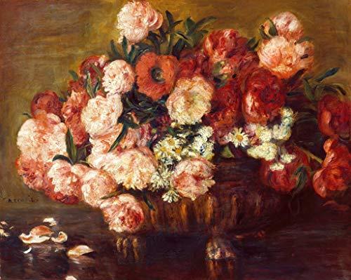 Kunst für Alle Impresión artística/Póster: Pierre Auguste Renoir Stilleben mit Pfingstrosen - Impresión, Foto, póster artístico, 70x55 cm